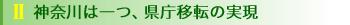 神奈川は一つ、県庁移転の実現